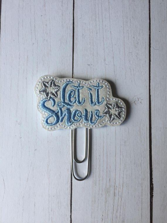 Let It Snow Glitter planner Clip/Planner Clip/Bookmark. Glitter Planner Clip. Winter Planner Clip. Snow Planner Clip. Holiday Planner Clip