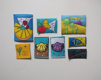 Sew-on appliques/embroidery patches/ woven appliques/ different motives
