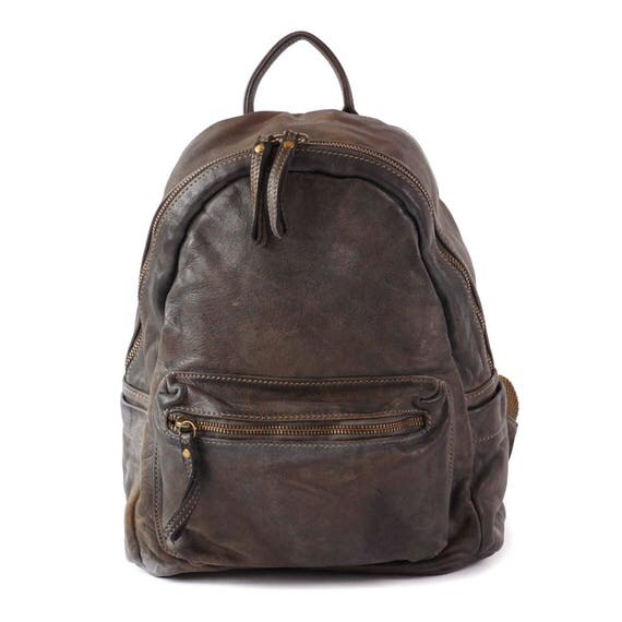 Natural Italy Vintage Leather Backpack, Women Packpack, Unisex Backpack, Men Backpack, Daily Backpack, Everyday Backpack, Girl Backpack