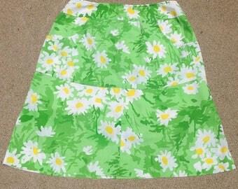 floral green mini skirt / skort