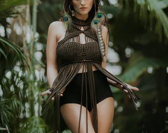 Macrame top - Designer boho tribal ethnic macrame clothing