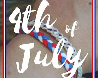 4th of July - USA Friendship Bracelets - Tie On