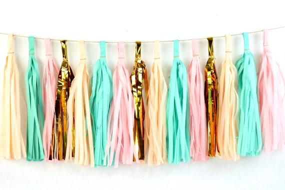 Jamboree Celebration Tassels, Tissue Tassels, Tassel Banner, Birthday Party Decor, DIY Tassel, Girl Birthday Party Wedding Decor Baby Shower