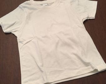 Ivory Organic Cotton Baby Toddler Clothes Plain T-shirt Size 2
