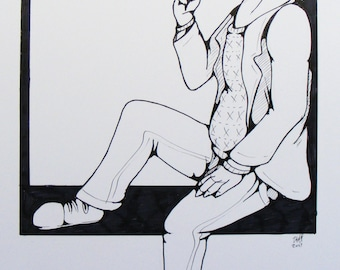 Bojack Horseman Original Ink work drawing
