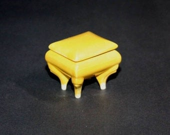 Little Bright Green Box with ornate legs made from a 1960's vintage mold