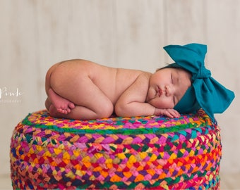 TEAL Gorgeous Wrap- headwrap; fabric head wrap; head wrap; boho; newborn headband; baby headband; toddler headband