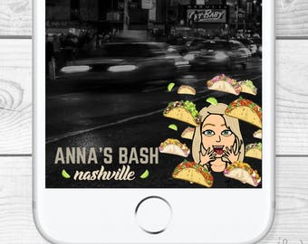 Custom Bitmoji Snapchat Filter/Geofilter - all made to order and personal