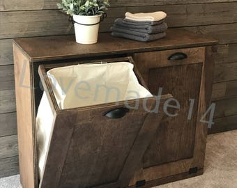 Laundry Hamper, Wood Laundry Hamper, (D LAU PROV FL)