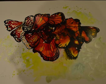 Abstract Monarch Butterfly