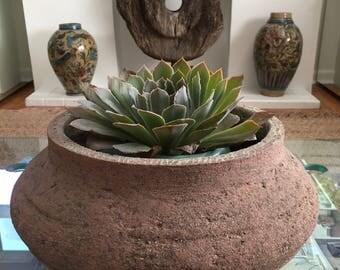 Rare 1930's California Hillside Pottery Squat Vessel