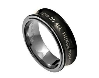 """Spinner Ring """"I Can Do All Things"""""""