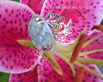 Original blue SEQUINED ring gift