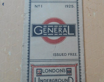 London Transport Bus Map 1925, Vintage Maps