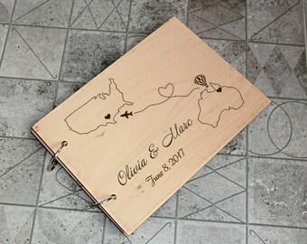 Wedding Guest Book Alternative Ideas Personalised Rustic Wedding Guest Book Wooden Wedding Guest Book Wood Guestbook Custom Guest book