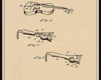 Violin Tailpiece Patent# 481783 dated August 30, 1892.