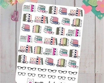 Reading Books Planner Stickers
