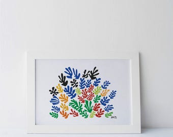 Matisse - La Gerbe- Giant Poster / dinA0 / 120x84 cm - 33.1 x 46.8 in / 84x60 cm / other sizes - modern Art