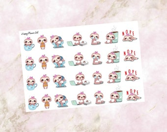 Sammy the Sloth Character Stickers (Glossy)