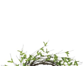 "Twig Foliage Candle Ring, 6.5"" Opening"