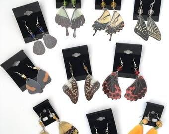 Real Butterfly, Wing Earrings, Butterfly Earrings, Drop Earrings, Butterfly Wings, Butterfly Gifts, Butterfly Jewelry, Dangle Earrings, Real