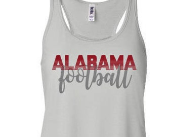 Ladies RollTide Tank, College Game Day Tank, Alabama Football Tank Top, Crimson Tide
