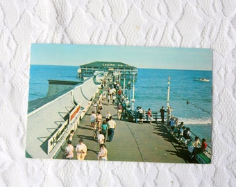 Old Orchard Pier Maine Postcard, Vintage 1966 Old Orchard Postcard