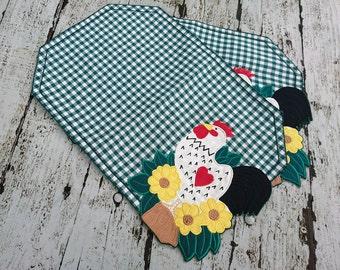 Cotton Placemat, set 2 napkins, cotton tablecloths, fabric placemate, kitchen placemates, dinner tablecloths, centerpieces, vintage napkin