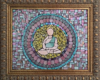 Bouddha/buddha/mandala/mosaic/mosaïque/zen/meditation/art/art mural/zen/home/deco/décoration/maison