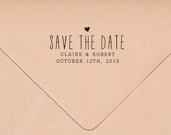 Save the Date Stamp, Personalized Wedding Stamp, Save the Dates, Custom Stamp, Invitation Stamp, Rustic Wedding Stamp HW109
