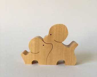 NAEF Wooden Toys - Sabu Oguro Animal Puzzle Poodle in original Box - Perfect Gift