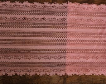 Stretch Lace - Coral Pink
