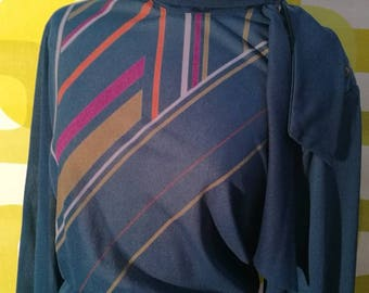 Vintage Elena miro, 1980 's geometric pattern, free shipping