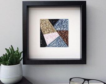 Abstract art, geometric wall art, framed art, home decor, modern wall art, housewarming gift, office decor, new home gift, original art