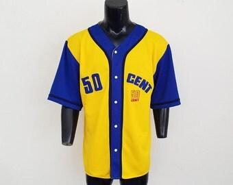 Rare 50 Cent Baseball Jersey Sz. L