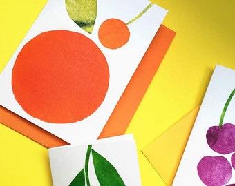 Fruity Favourite Monoprint Cards