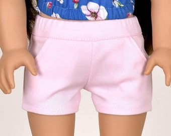 Shorts 18 inch doll clothes Light Pink