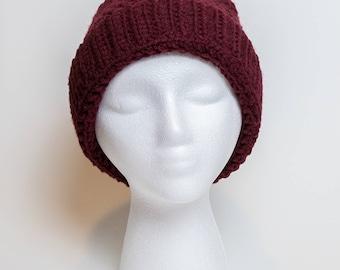 Maroon Crochet Hat