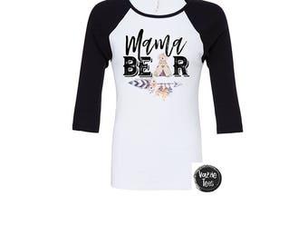 Mama Bear - Tribal Bear Shirts - Women's Shirts - Unisex Adult Shirts - Mama Shirts - Tribal Arrow - Boho Shirts - Bohemian Women's Shirts
