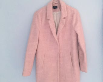 Pink Wool blend long coat small