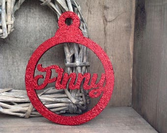 Personalised Christmas Bauble in Circle Shape by Duck Duck Goose