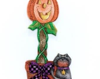 HALLOWEEN MAGNET, Pumpkins, Jack O Lantern, Black Cat, Halloween Decor, Halloween, Trick or Treat, Magnets, Pumpkin Magnet, Pumpkin Decor