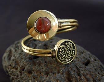 Agate Bracelet, Agate brass bracelet, Tribal bracelet, ethnic bracelet, Cuff bracelet, Gemstone bracelet, crystal bracelet (B181)