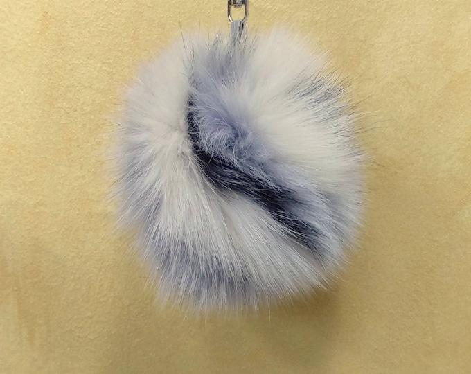 Fox Fur Pom Pom, Bag Pom Pom,Fur keychain F617