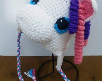 12-18 months lined Unicorn crochet Hat
