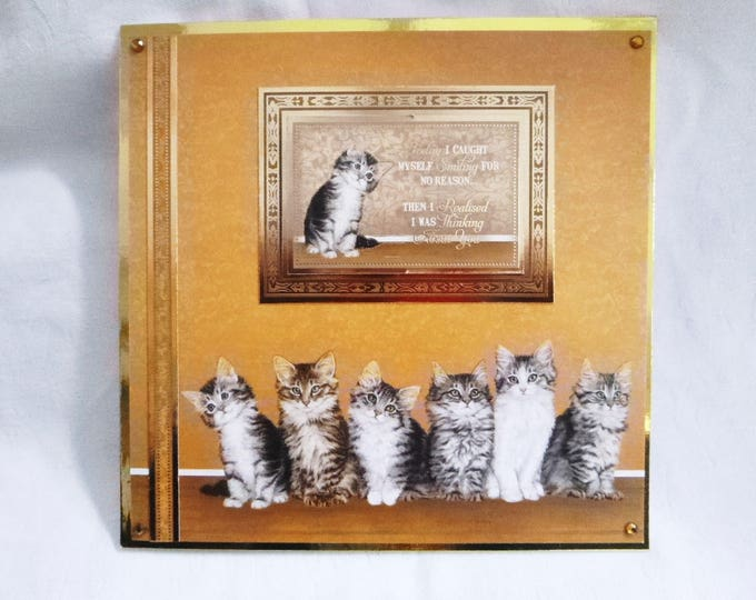 Fluffy Cats Greeting Card, Birthday Card, Cute Kittens, Female, Any Age, Mum, Sister, Daughter, Niece, Aunt, Cousin