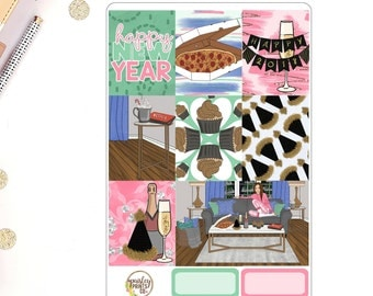 New Years - Me, Myself & I Weekly Kit for use in Erin Condren