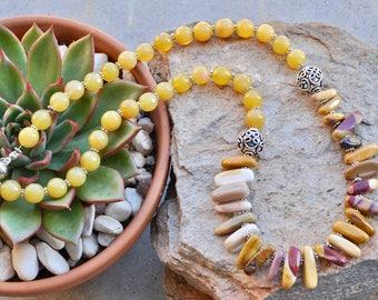 Brown statement necklace - best friend gift - best friend necklace - friendship necklace - trendy jewellery - semi precious stones - gift