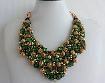 Statement necklace, Stunning necklaces, Strass necklace, Olivia necklace, Statement, Collar necklace, Jewel necklace Swarovski strass IV203