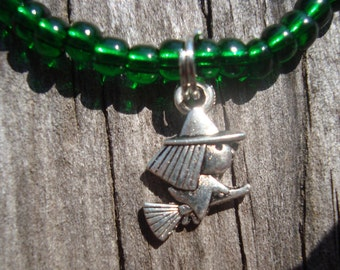 Green Witch Bracelet ~ Cute Witch Bracelet
